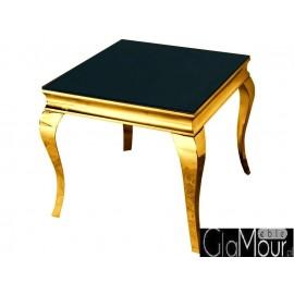 Stolik kawowy w kolorze złoto-czarnym 60x60x50cm D306