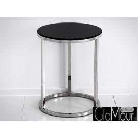 Stylowy stolik w kolorze srebrno-czarnym LW-606