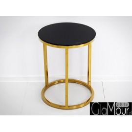 Stylowy stolik w kolorze złoto-czarnym LW-606