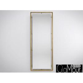 Duże lustro do pokoju w kolorze złotym 62x180cm LW-6835