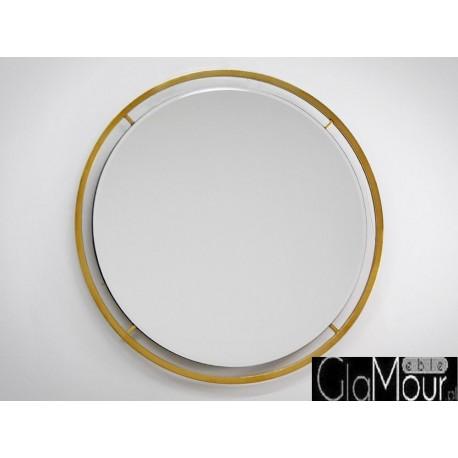 Lustro okrągłe w kolorze złotym 89x89cm LW-6852