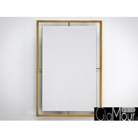 Lustro z rama w kolorze złotym 60x90cm LW-6853