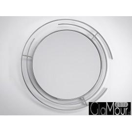 Lustro okrągłe w stalowej ramie 90x90cm LW-6856