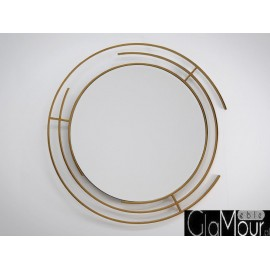 Lustro okrągłe w złotej ramie 90x90cm LW-6856