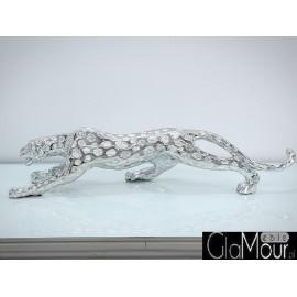 Srebrna figura Gepard 54x12x15cm 1011-2