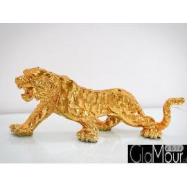 Figura tygrysa w odcieniu złotym 77x22x28cm 1086