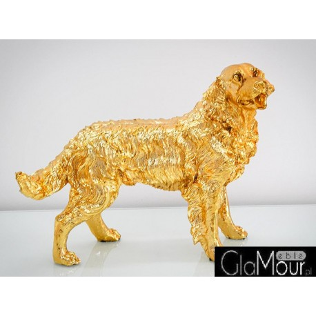 Złota figura psa golden retrievera 54x44x24cm A020