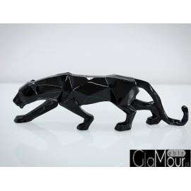 Czarna figura pumy 44x24x9cm A109