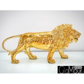 Złota figura lew 100x30x41cm A116