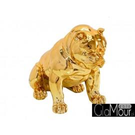 Złota figura siedzący pies 51x42x30cm A259