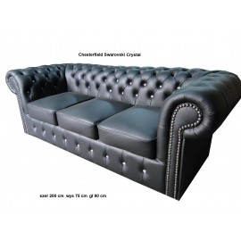 Chesterfield sofa 3 os klasyk - skóra