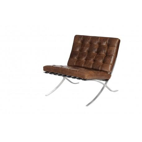 Fotel BA1 brązowy ciemny vintage