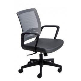 Fotel biurowy Seca B szary/szary
