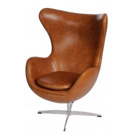 Fotel Jajo brązowy jasny vintage Premium