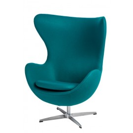 Fotel Jajo kaszmir zielony ciemny 45 Pre mium