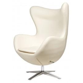 Fotel Jajo Soft skóra ekologiczna 506 biały