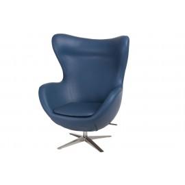 Fotel Jajo Soft skóra ekologiczna 518 niebieski ciemny