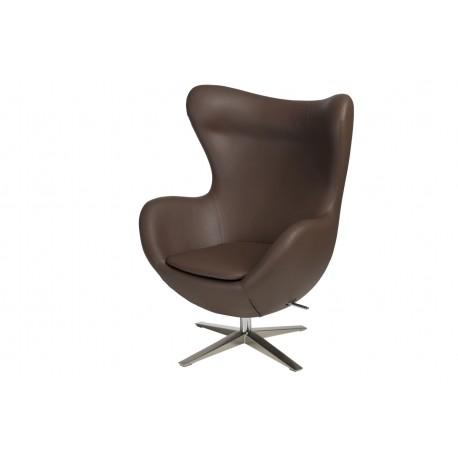 Fotel Jajo Soft skóra ekologiczna 524 brązowy
