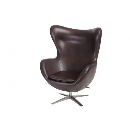 Fotel Jajo Soft skóra ekologiczna 525 brązowy ciemny