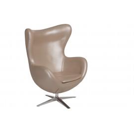 Fotel Jajo Soft skóra ekologiczna 530 perłowy