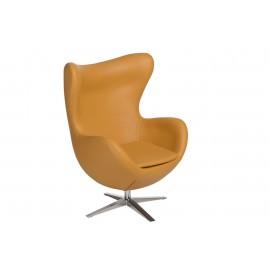 Fotel Jajo Soft skóra ekologiczna 535 musztardowy