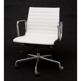 Fotel biurowy CH1171T biała skórachrom outlet