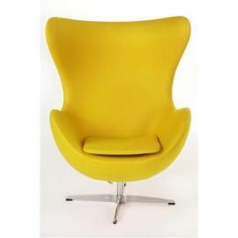 Fotel Jajo żółty kaszmir B4 outlet