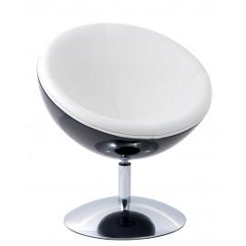 Fotel Mercury K-czarny S-białe