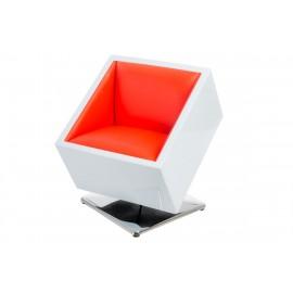 Fotel obrotowy Zox K-biały S-czerwone