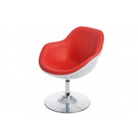 Fotel Pezzo K- biały S-czerwony 913