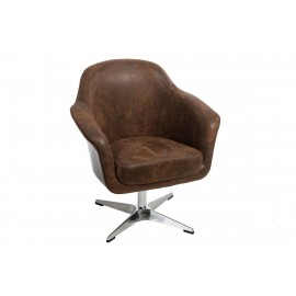 Fotel Presto K-brązowy S-vintage