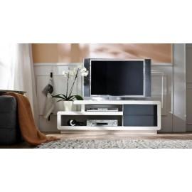 COSIMA szafka RTV biała lakierowana wysoki połysk
