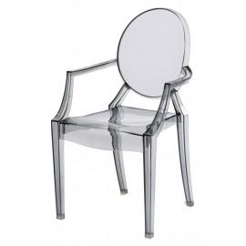 Krzesło dziecięce Royal Jr. transparentn y dymiony