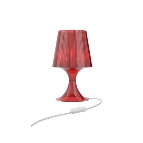 Lampa Smart czerwony transparent