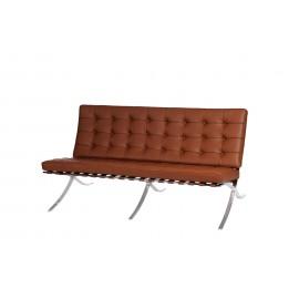 Sofa BA2 2 osobowa jasny brąz skóra naturalna