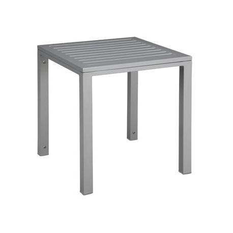 Stolik Cubic blat aluminiowy 45x50x50 grey