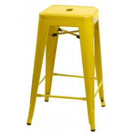 Stołek barowy Paris 66cm żółty inspirowany Tolix outlet
