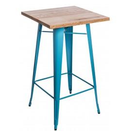 Stół barowy Paris Wood niebieski jesion