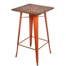 Stół barowy Paris Wood pomarańcz sosna
