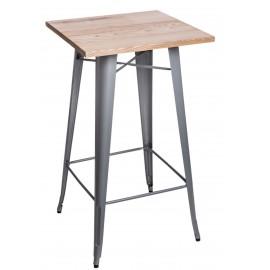 Stół barowy Paris Wood srebrny jesion