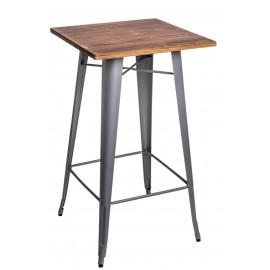 Stół barowy Paris Wood srebrny sosna