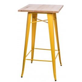 Stół barowy Paris Wood żółty jesion