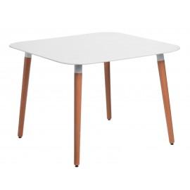Stół Copine blat biały 100x100 cm