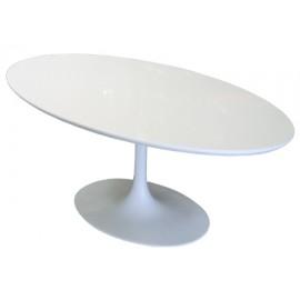 Stół Fiber owal 200-120 biały MDF outlet