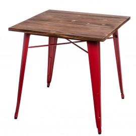 Stół Paris Wood czerwony sosna