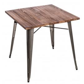 Stół Paris Wood metaliczny sosna outlet