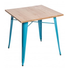 Stół Paris Wood niebieski jesion