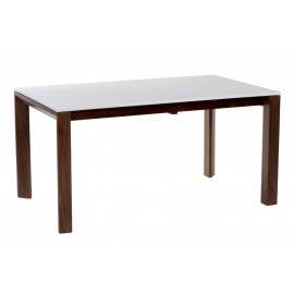 Stół rozkładany Camello 150/200 outlet biały mat nogi orzech amerykański