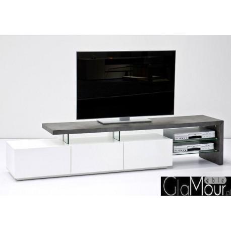 Elegancki stolik RTV ALIMOS II kolor biały mat