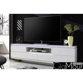 Szafkra RTV Balin w kolorze białym 59074MW